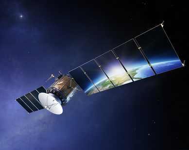 Satellit in Erdumlaufbahn